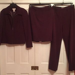 Jacket skirt and pants suit EUC
